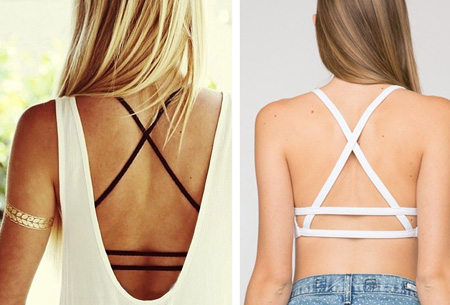 Strappy Crop top Wit - Stijl B - Strappy Crop top