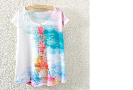 T-shirt met leuke print | Keuze uit 19 verschillende uitvoeringen! #6 Parijs