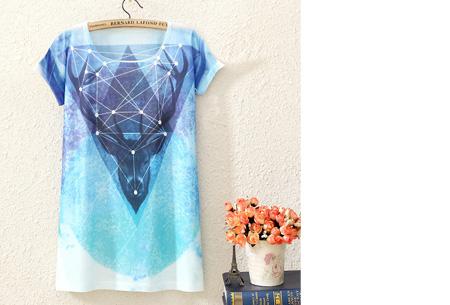 T-shirt met leuke print | Keuze uit 19 verschillende uitvoeringen! #12 Hert