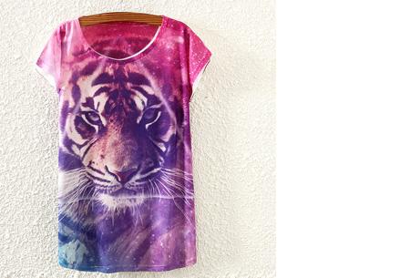 T-shirt met leuke print | Keuze uit 19 verschillende uitvoeringen! #14 Galaxy tijger