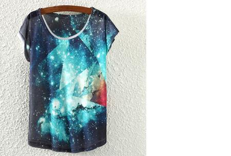 T-shirt met leuke print | Keuze uit 19 verschillende uitvoeringen! #16 Galaxy