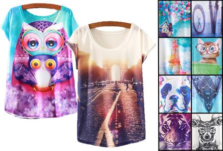 T-shirt met leuke print | Keuze uit 19 verschillende uitvoeringen!