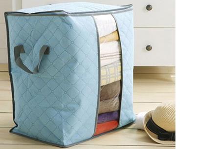 Kleding opbergboxen, set van 2, 4 of 8 al vanaf slechts €8,95 | Je zomer- of winterkleding netjes opgeruimd! Blauw