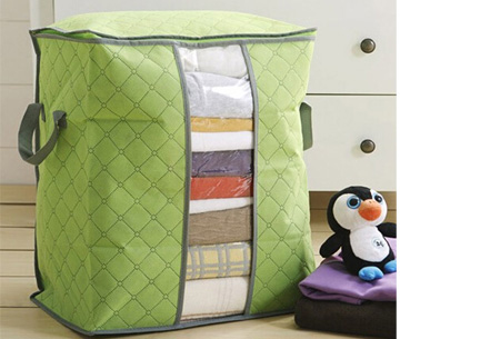 Kleding opbergboxen, set van 2, 4 of 8 | Je zomer- of winterkleding netjes opgeruimd! Groen