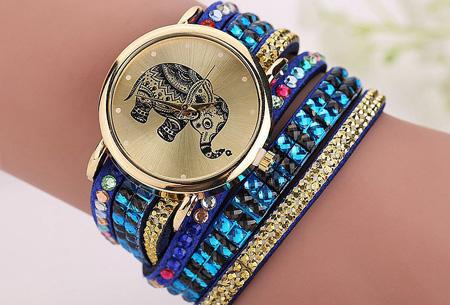 Sparkle Elephant armbandhorloge nu slechts €6,95 | Hippe & glamorous eyecatcher! donkerblauw