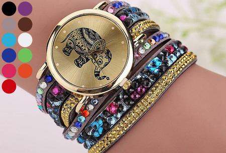 Sparkle Elephant armbandhorloge nu slechts €6,95 | Hippe & glamorous eyecatcher!