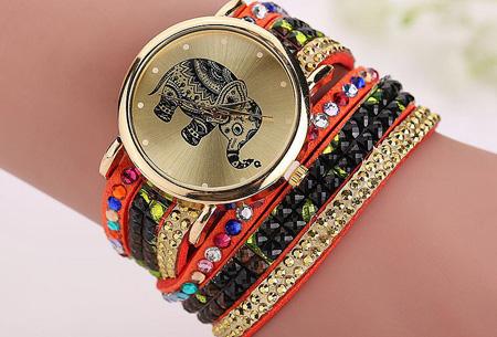 Sparkle Elephant armbandhorloge nu slechts €6,95 | Hippe & glamorous eyecatcher! oranje