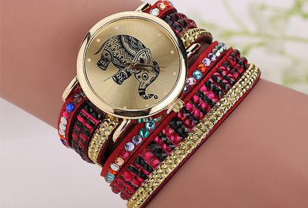 Sparkle Elephant armbandhorloge nu slechts €6,95 | Hippe & glamorous eyecatcher! rood