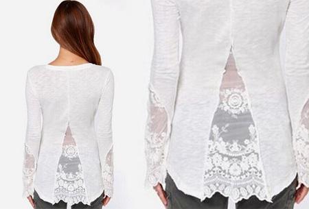 Classy Lace top nu slechts €11,95 | Met prachtige kanten details!