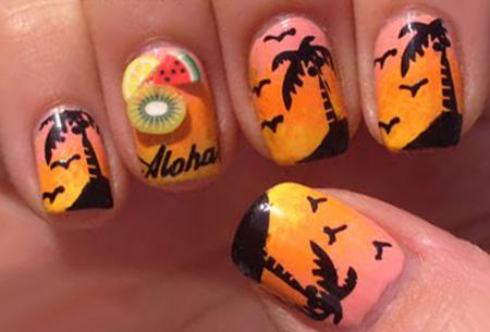 Nail Art summer nagelset nu slechts €5,95 | 5x nagelpennen, nagelstickers, nagelfolie en decoratiesteentjes