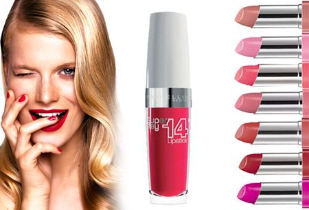 Maybelline SuperStay 14HR lipstick nu 2 stuks slechts €7,95 | Keuze uit 7 verschillende kleuren