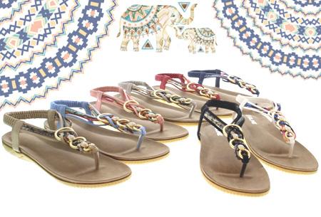Evi slippers | Voor de ultieme Ibiza look, met lekker zacht voetbed!