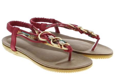 Evi slippers | Voor de ultieme Ibiza look, met lekker zacht voetbed! Rood