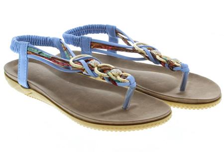 Evi slippers | Voor de ultieme Ibiza look, met lekker zacht voetbed! Lichtblauw