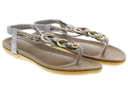 Evi slippers | Voor de ultieme Ibiza look, met lekker zacht voetbed! Grijs