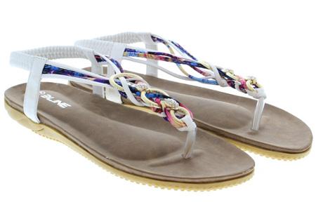 Evi slippers | Voor de ultieme Ibiza look, met lekker zacht voetbed! Wit