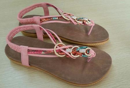 Evi slippers | Voor de ultieme Ibiza look, met lekker zacht voetbed! Roze