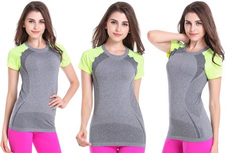 Quick Dry sport shirt nu slechts €10,95 | Sneldrogend en ventilerend! Geel