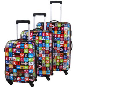 3-delige hardcase kofferset nu voor slechts €129,95 | In 13 leuke, herkenbare prints #6 Activity