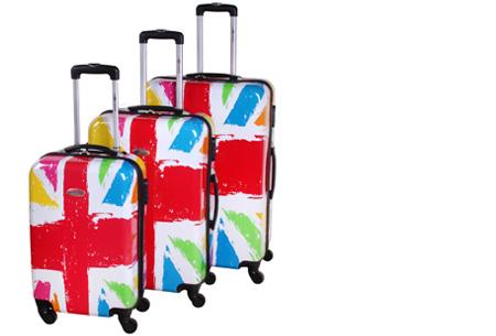 3-delige hardcase kofferset nu voor slechts €129,95 | In 13 leuke, herkenbare prints #7 Vlag