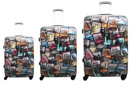 3-delige hardcase kofferset nu voor slechts €129,95 | In 13 leuke, herkenbare prints #11 Qapital cities