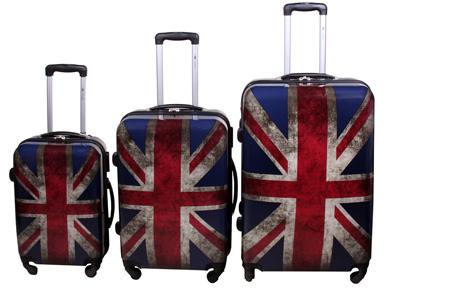 3-delige hardcase kofferset nu voor slechts €129,95 | In 13 leuke, herkenbare prints #13 UK flag