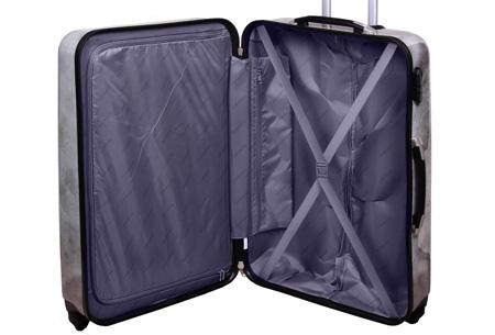 3-delige hardcase kofferset nu voor slechts €129,95 | In 13 leuke, herkenbare prints