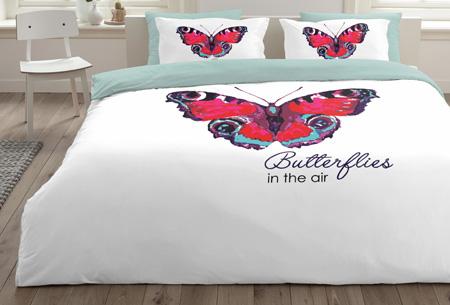 6 nieuwe designs dekbedovertrekken van 100% zacht katoen. Nu al vanaf slechts €9,99! #1 Butterfly