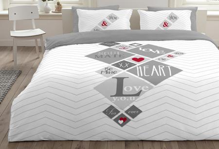 6 nieuwe designs dekbedovertrekken van 100% zacht katoen. Nu al vanaf slechts €9,99! #6 Squared love