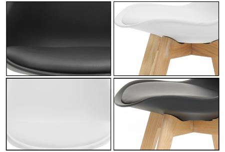Moderne Marieke design stoelen 2 stuks | Met eikenhout kruisonderstel