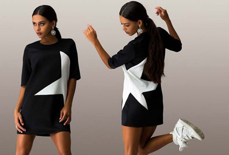 Star tuniek nu slechts €12,95 | Stoer, sportief en fashionable! zwart