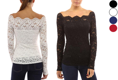 865eb98c1fa5e1 Kanten off shoulder top nu slechts €11