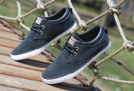 Comfortabele herenschoenen nu slechts €27,95 | De ideale schoen voor zomer en voorjaar!  Donkerblauw