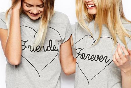 Friends Forever shirts nu slechts €13,95 p.s. | Dé musthave voor jou en je beste vriendin!