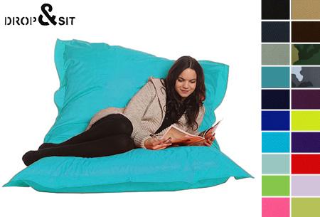 Drop & Sit zitzak nu slechts €22,95! Keuze uit 20 kleuren