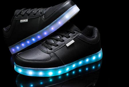 LED schoenen | Maat 42 Wit OP=OP Zwart