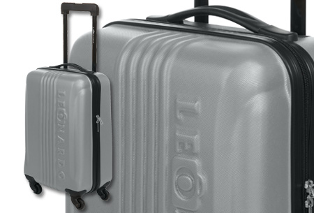 Handbagage koffer + voucher voor twee Europese retour vliegtickets | Ga voordelig op reis! Grijs