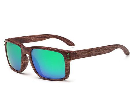 Wooden look zonnebrillen nu slechts €4,95 | Bescherm je ogen in stijl Model #5