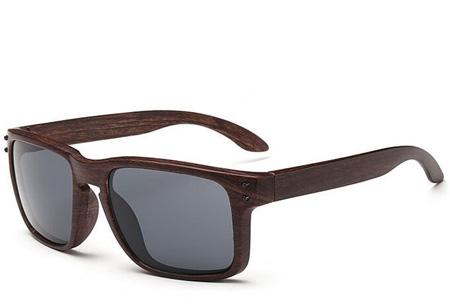 Wooden look zonnebrillen nu slechts €4,95 | Bescherm je ogen in stijl Model #7
