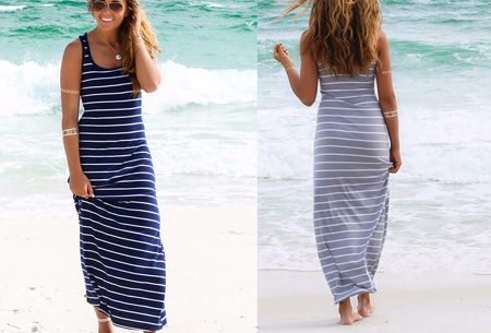 Stripe maxi jurk | Stijlvol, hip en heerlijk luchtig