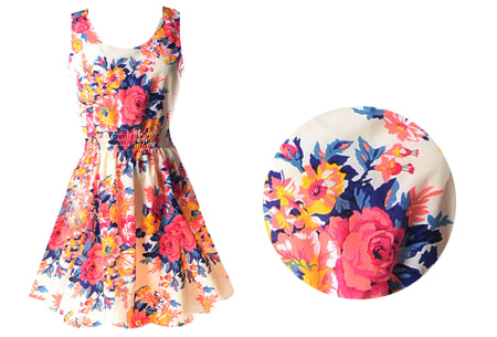 Jurkje met zomerse print | Verkrijgbaar in 21 gave dessins! #1 bloemen