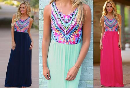 Bohemian maxi jurk nu slechts €14,95 | Zomers, hip en vrouwelijk!