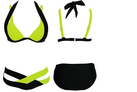 Luxury Chique bikini  | Stijlvol en chique het strand op!  Zwart-Groen