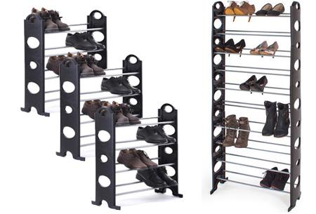 Schoenenrek voor 40 paar schoenen nu slechts €16,95 | Berg je schoenen op in stijl!
