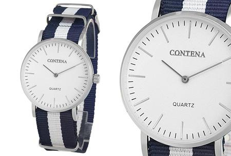 Contena horloge nu slechts €6,95 + bestel er diverse horlogebandjes bij voor maar €1,95! horloge #1