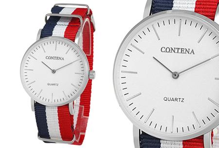 Contena horloge nu slechts €6,95 + bestel er diverse horlogebandjes bij voor maar €1,95! horloge #2