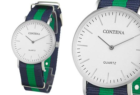 Contena horloge nu slechts €6,95 + bestel er diverse horlogebandjes bij voor maar €1,95! horloge #3