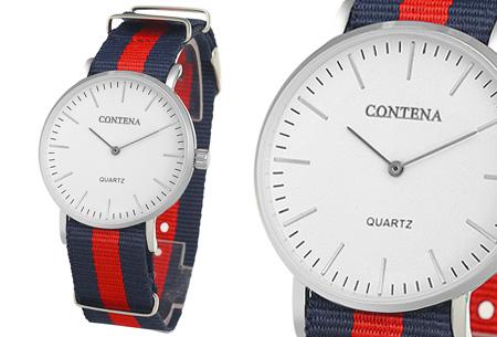 Contena horloge nu slechts €6,95 + bestel er diverse horlogebandjes bij voor maar €1,95! horloge #4