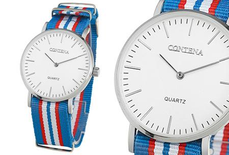 Contena horloge nu slechts €6,95 + bestel er diverse horlogebandjes bij voor maar €1,95! horloge #5