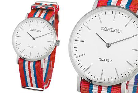 Contena horloge nu slechts €6,95 + bestel er diverse horlogebandjes bij voor maar €1,95! horloge #6